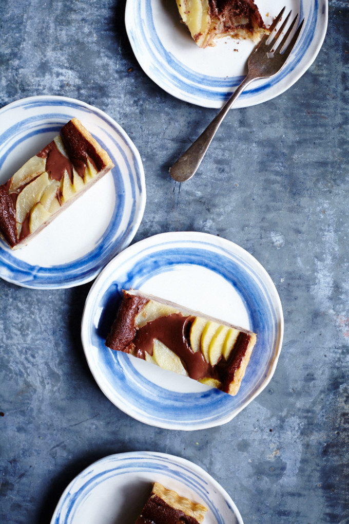 Pear and Nutella Tart