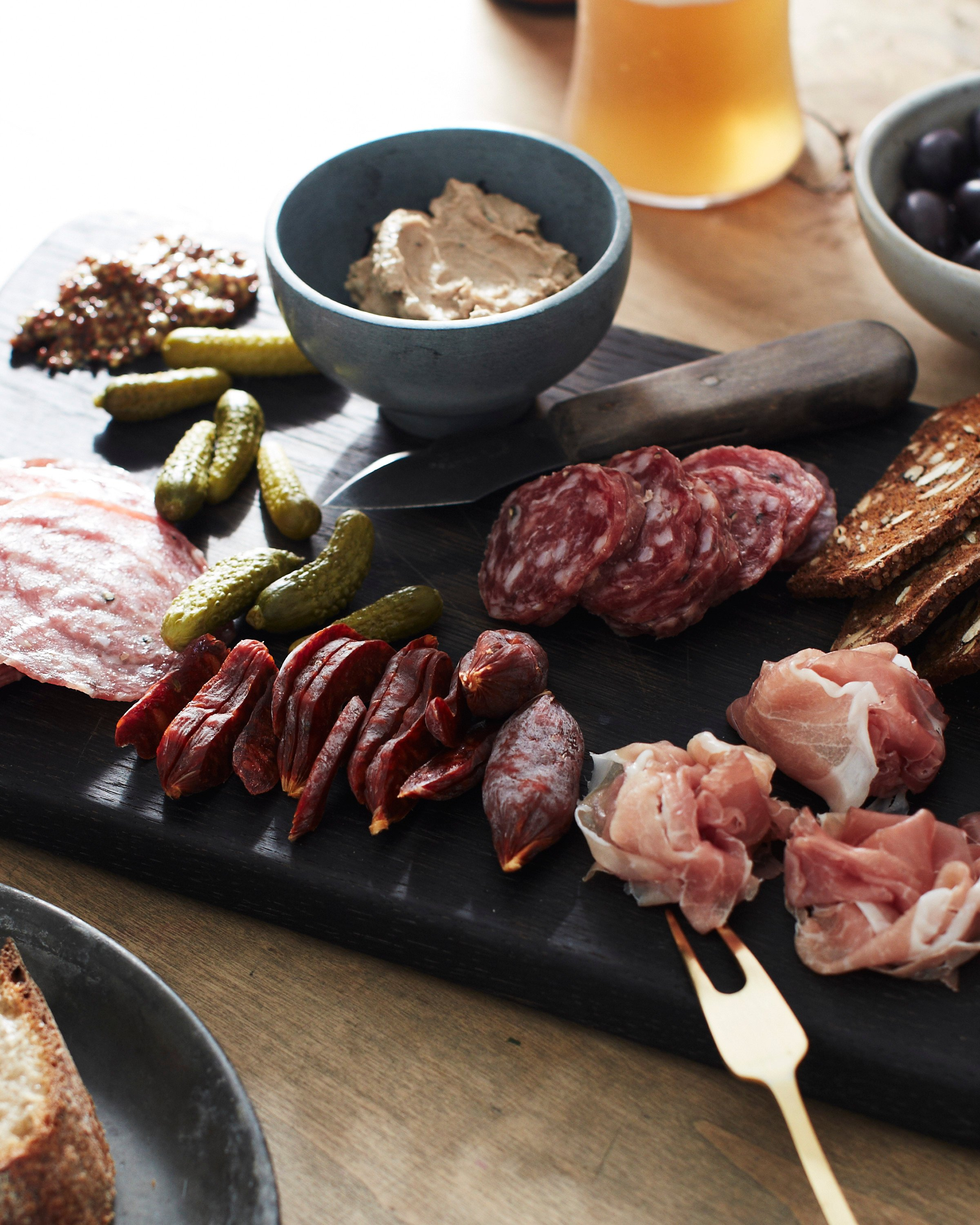 how to finish a charcuterie board