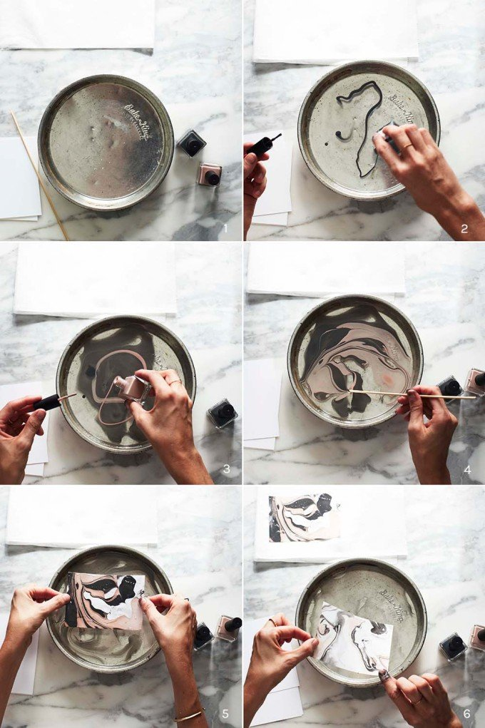 Marbleizing Stationery