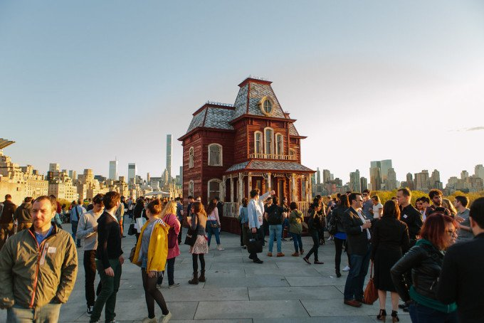 Cornelia Parker house on the Metropolitan Museum of Art rooftop