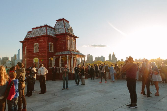Cornelia Parker house on the Met rooftop