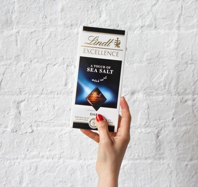 Lindt Dark Chocolate with a Touch of Sea Salt