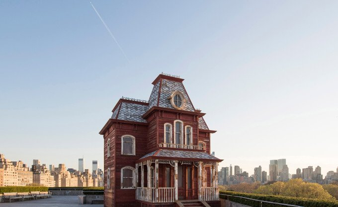 Cornelia Parker PsychoBarn exhibit on the Met rooftop