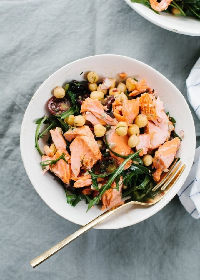 Salmon and Chickpea Salad