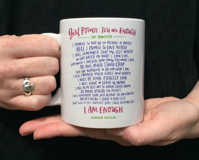 Emily McDowell girl power mug