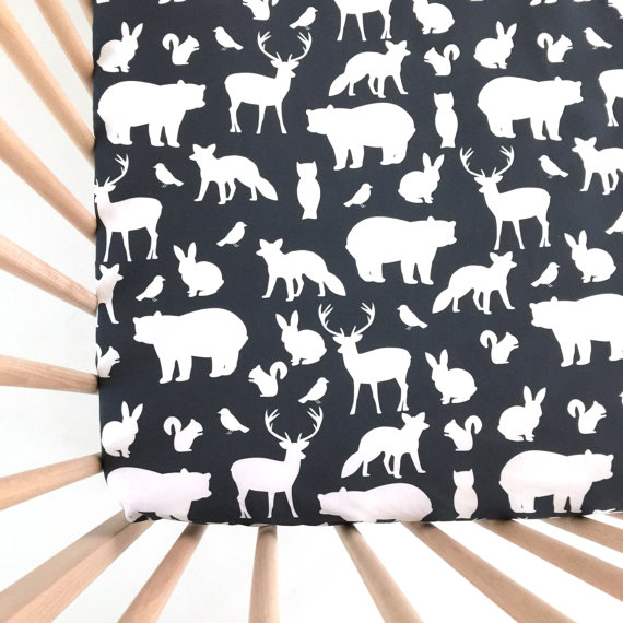 Animal crib sheets