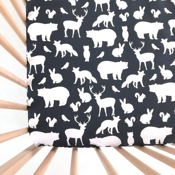 Animal crib sheets