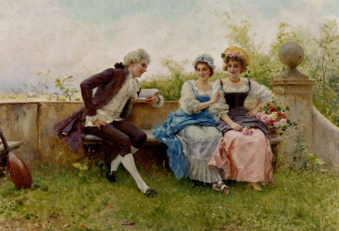 Women having a terrible time at parties in Western Art History