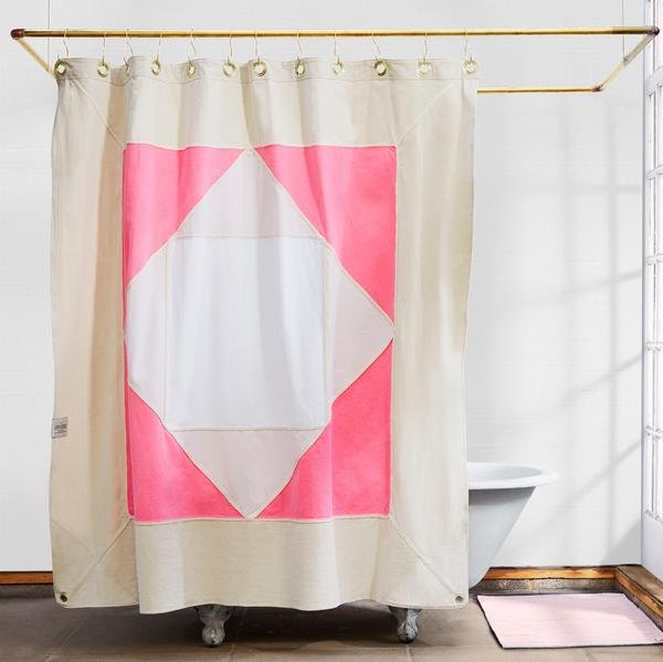 quiet town shower curtain