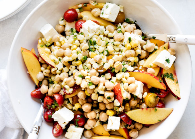 Tomato, Corn And Chickpea Salad