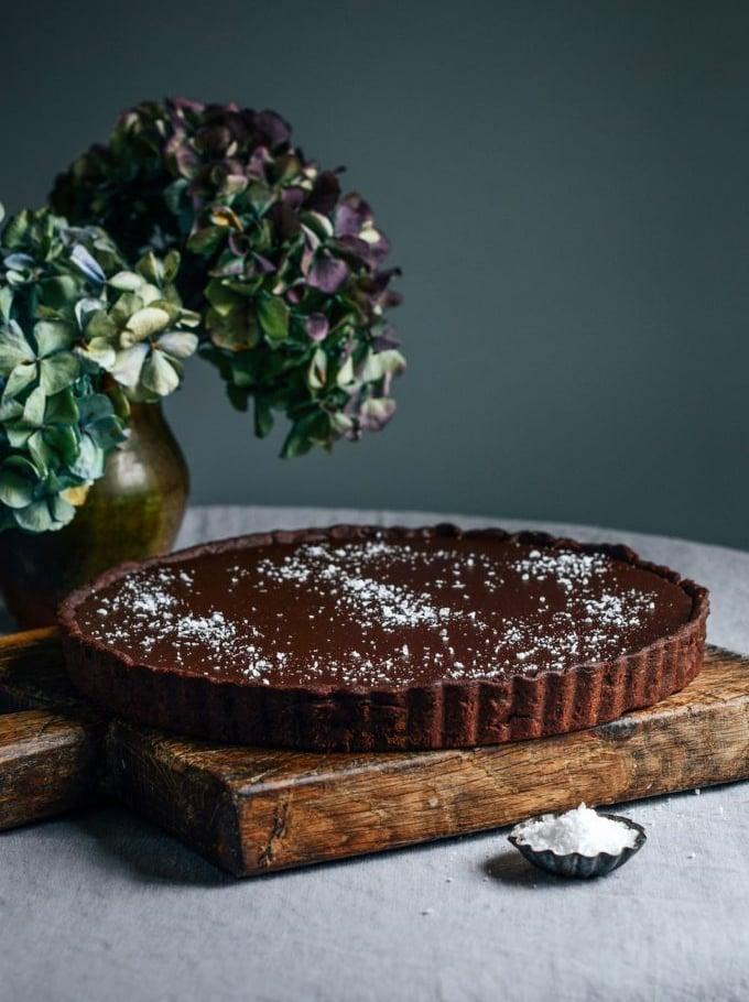 Dark Chocolate Tart With Sea Salt