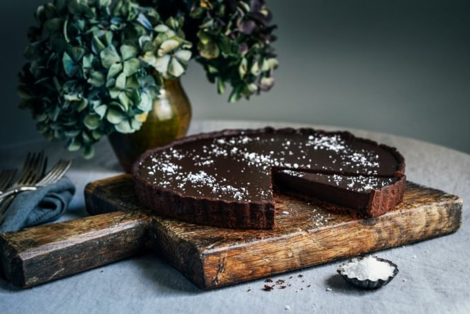 Dark Chocolate Tart With Sea Salt
