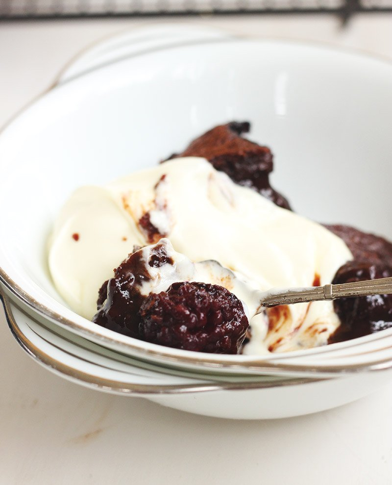 Chocolate Blackberry Pudding | A Cup of Jo