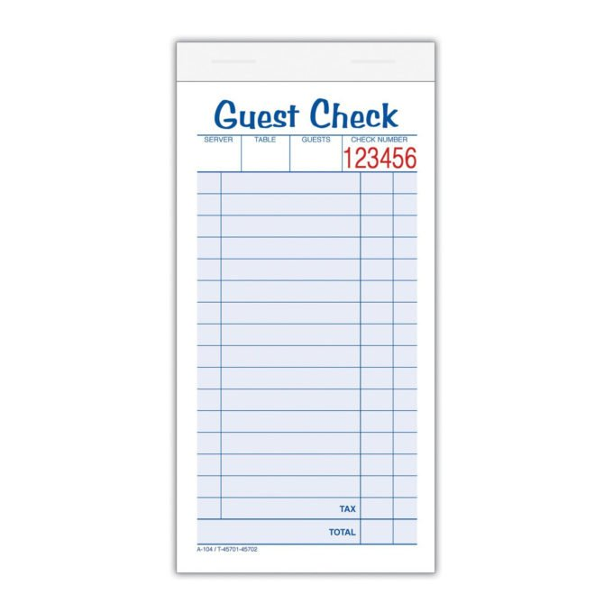Restaurant Order Pad