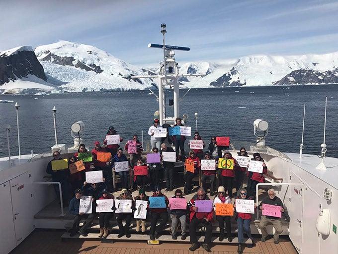 Women's March in Antarctica
