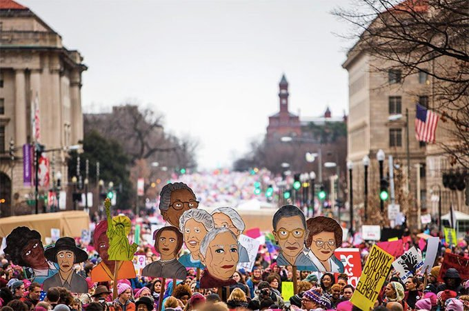 Women's March best signs
