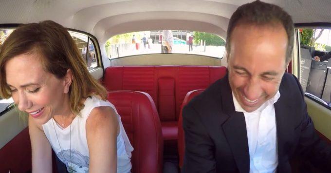Kristen Wiig and Jerry Seinfeld