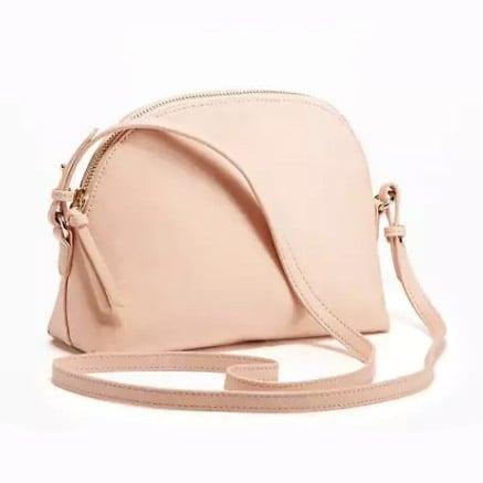 Blush Half-Moon Bag