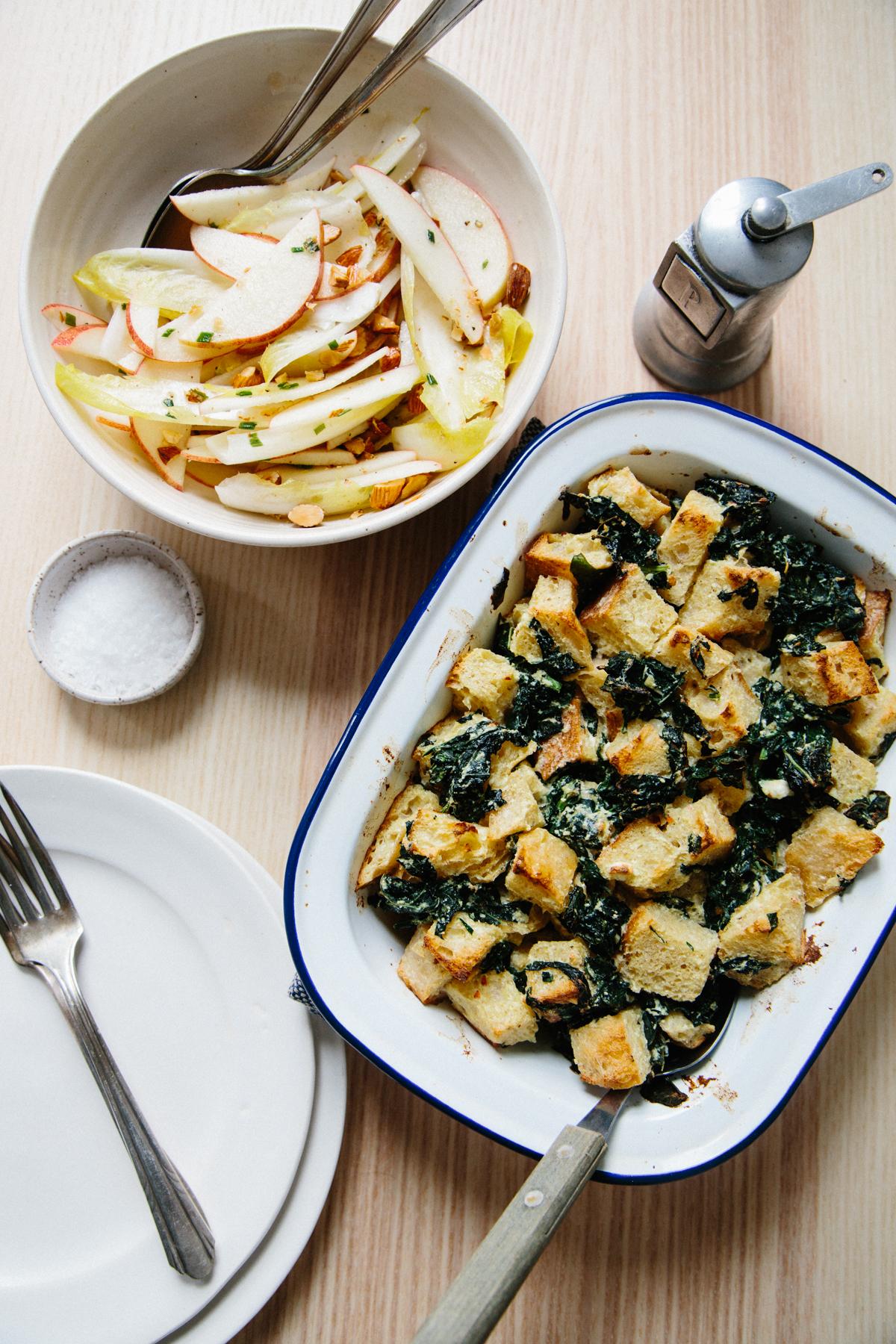 Blue apron unhealthy - Creamy Ricotta Lacinato Kale Strata