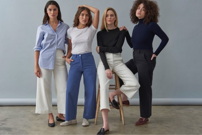 Everlane's new wide leg pants