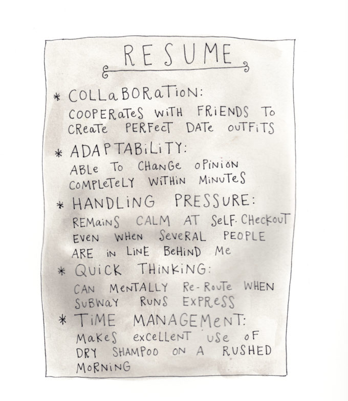 An Honest Resume