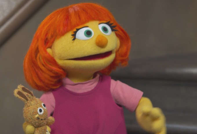 Julia, Sesame Street character with autism