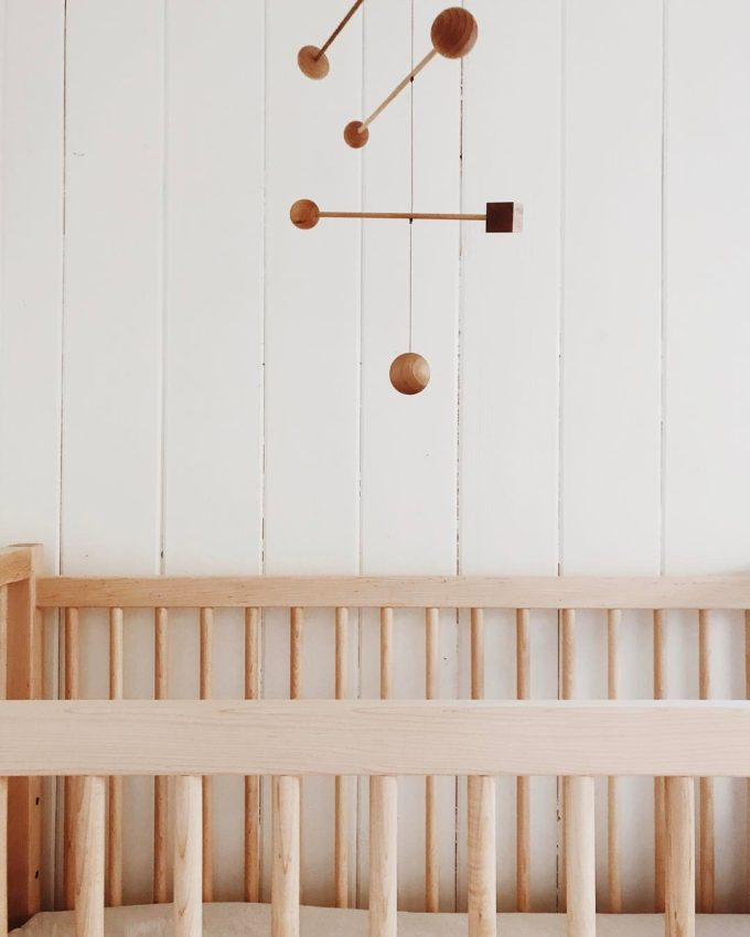 How Pretty And Mesmerizing Is A Mobile Hung Up In Nursery These Days We Re Especially Loving Sculptural Wood Or Br Versions