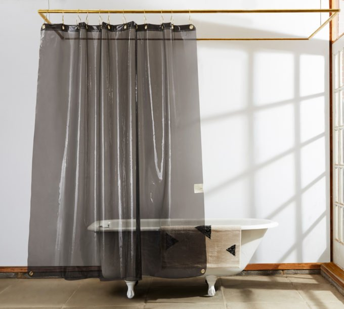 Quiet Town Transparent Shower Curtains