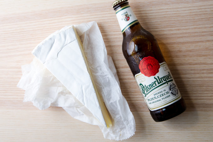 Seven Best Cheese Pairings: brie and pilsner beer