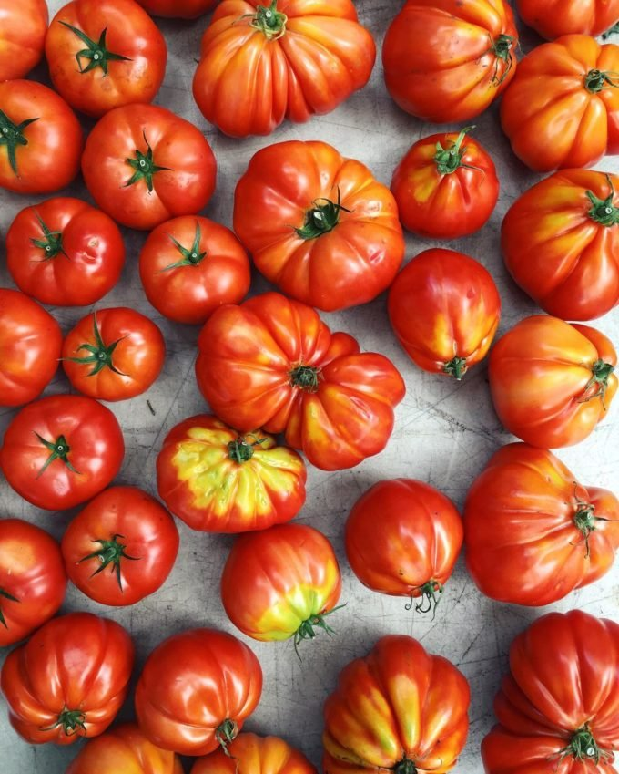 Heirloom tomatoes by Ben Wagner