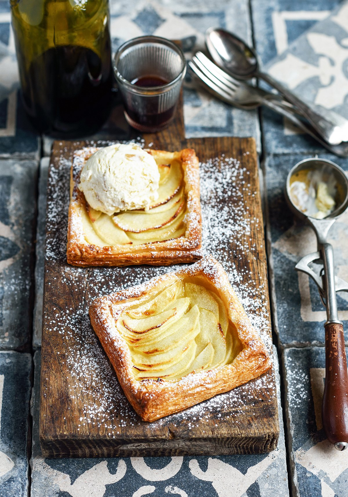 Apple Tarts With No-Churn Ice Cream