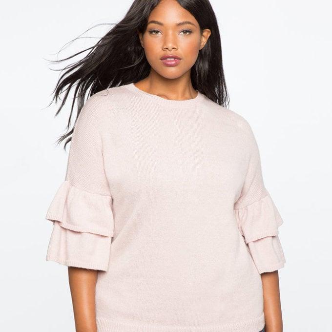 Eloquii Flutter Sweater