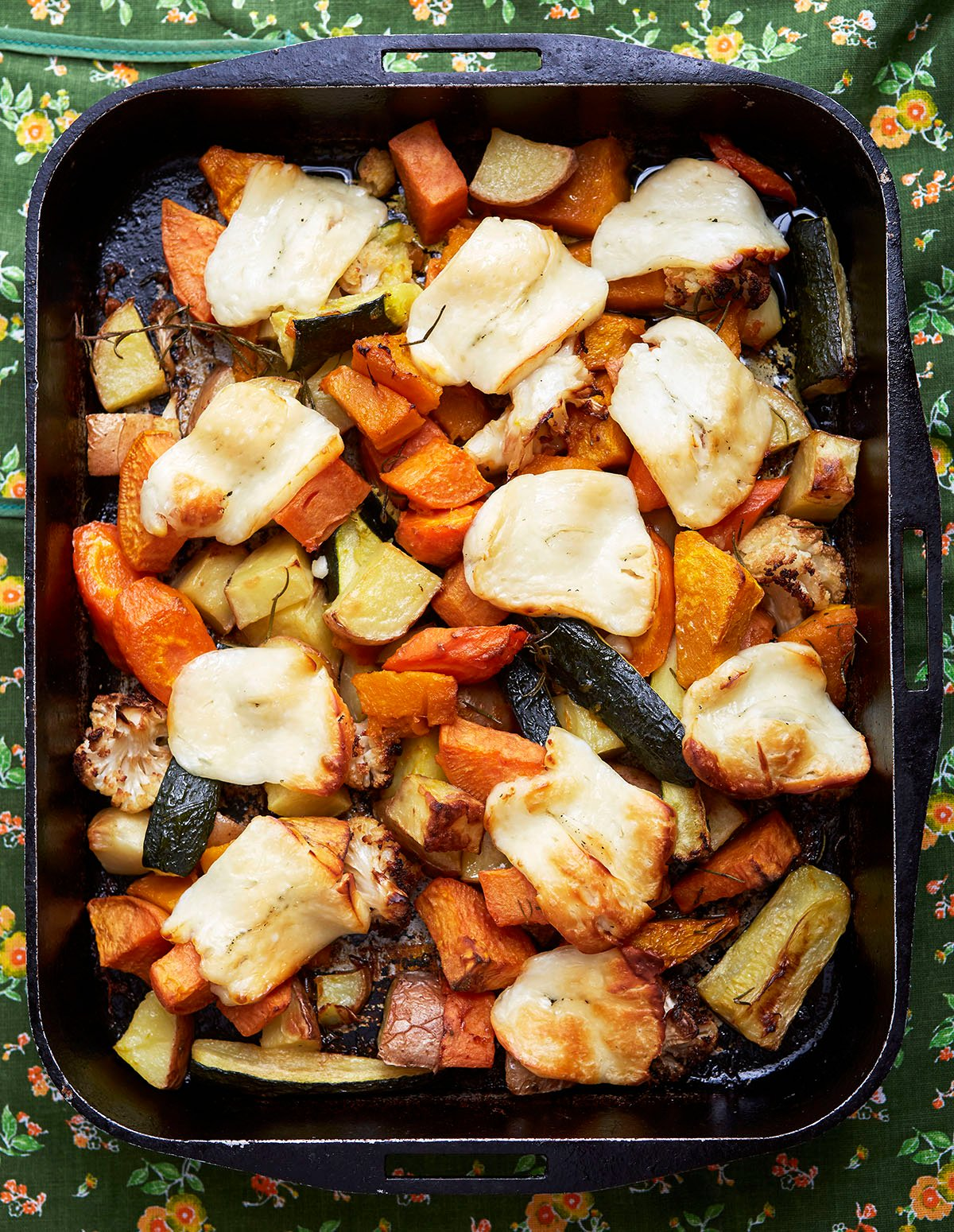 One-Pot Baked Veggies and Halloumi