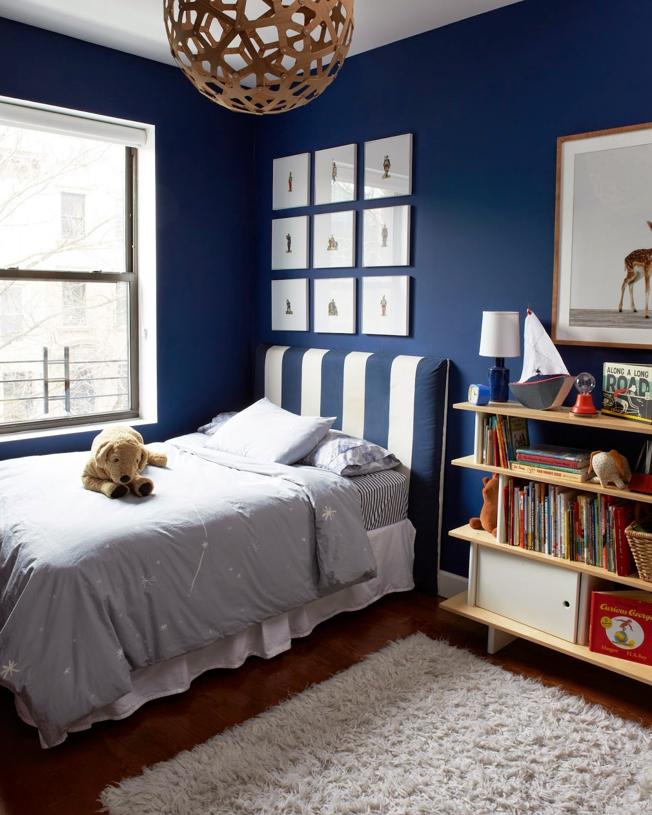Painted Bedrooms. Boy s bedroom with Symphony Blue paint Help  Which Bedroom Paint Color Would You Choose A Cup of Jo