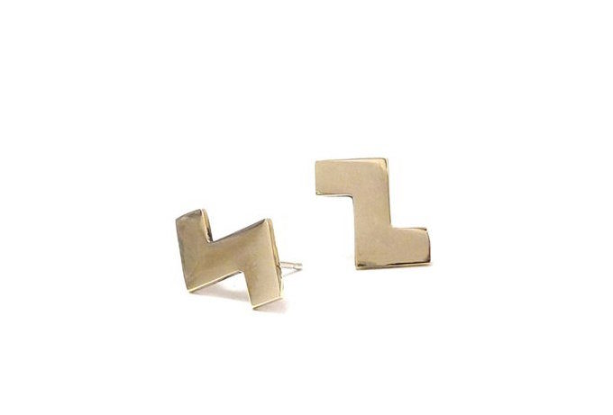 annie costello brown tetris earrings