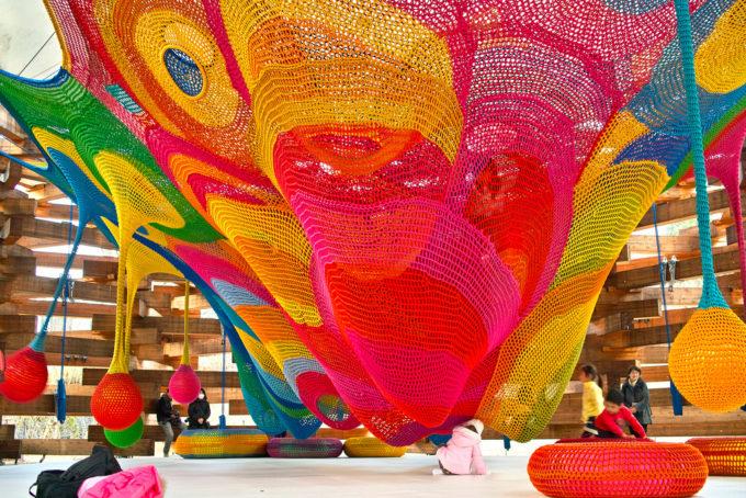 Crochet playground in Tokyo by Toshiko Horiuchi MacAdam