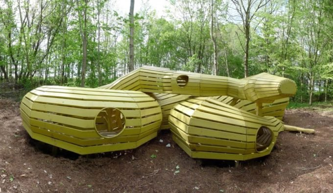 Monstrum coiled snake playground in Denmark