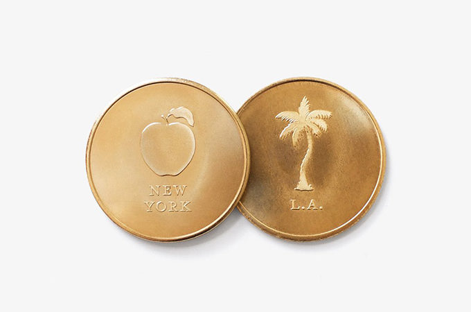 NYC vs. LA coin by Set Editions