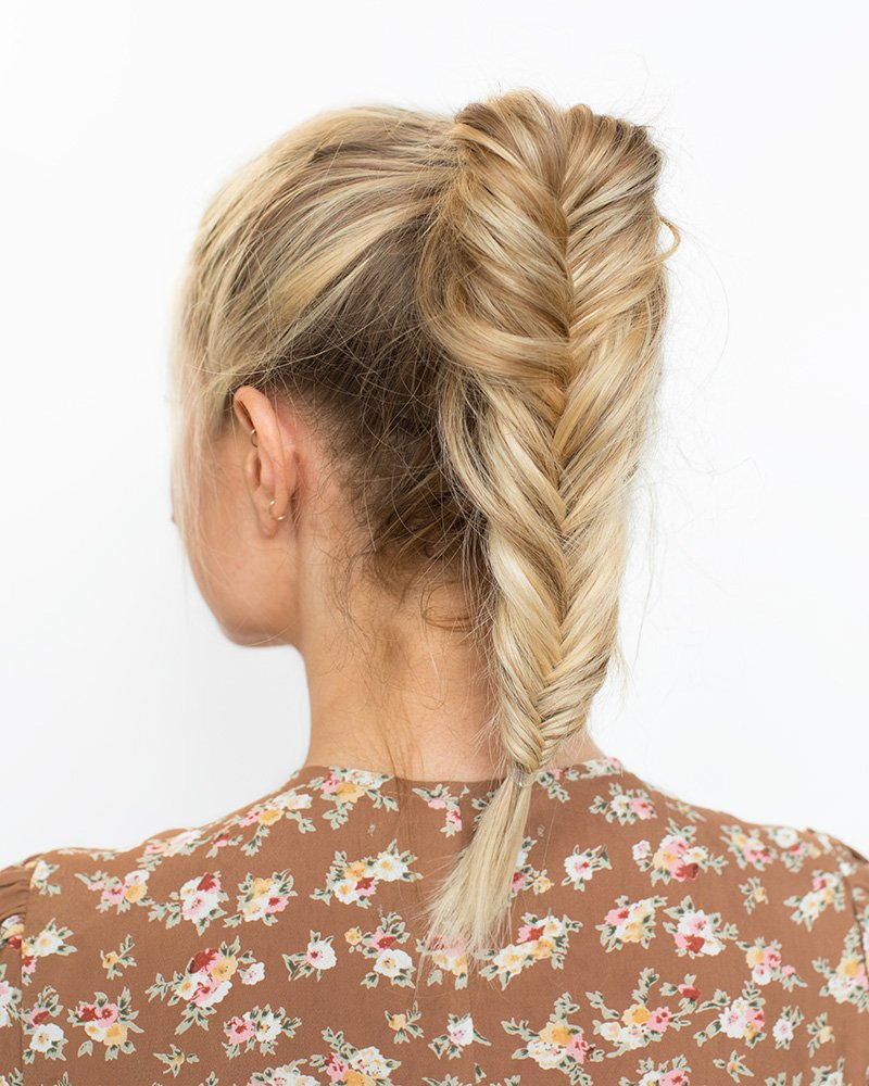 how to do a fishtail pony a cup of jo
