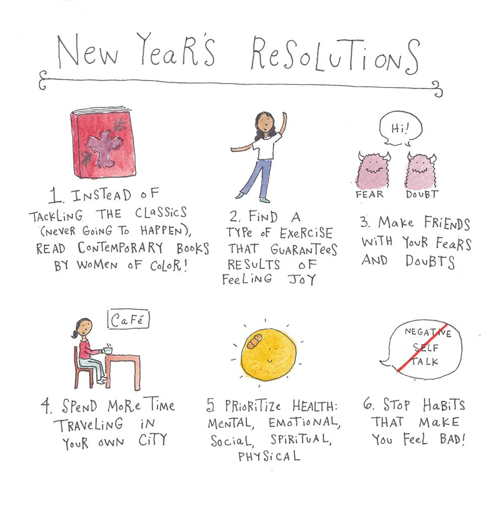 New Year's Resolutions by Mari Andrew
