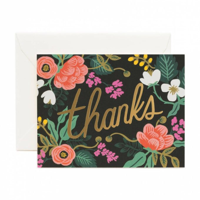Rifle Paper Thank You Card