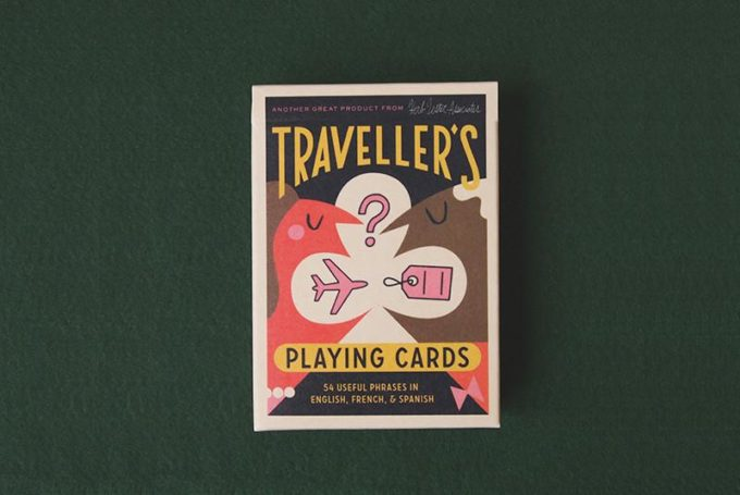 Travelers playing cards by Herb Lester