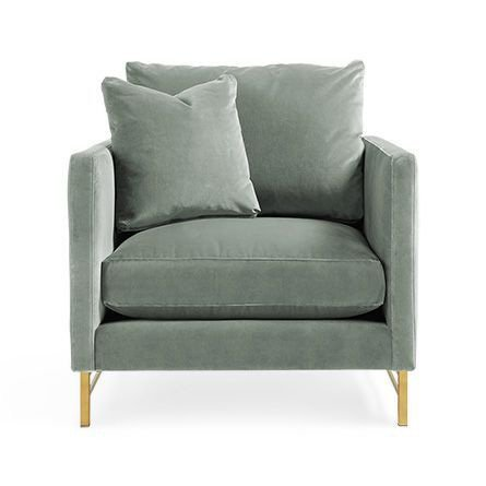 Upholstered Brass Chair