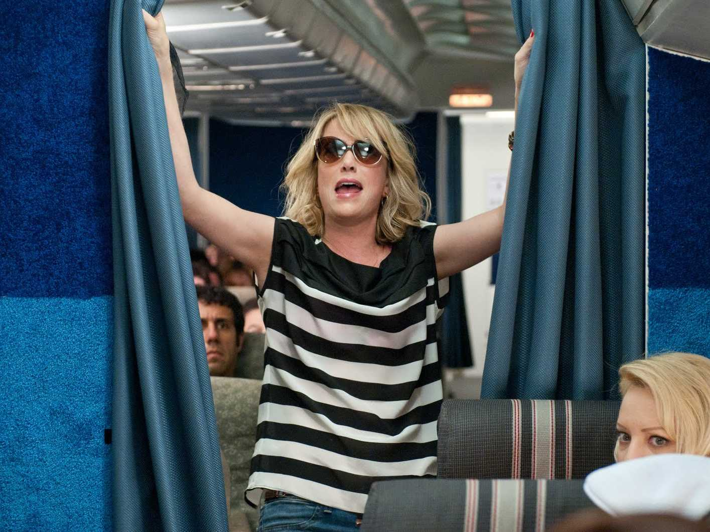 Bridesmaids airplane scene