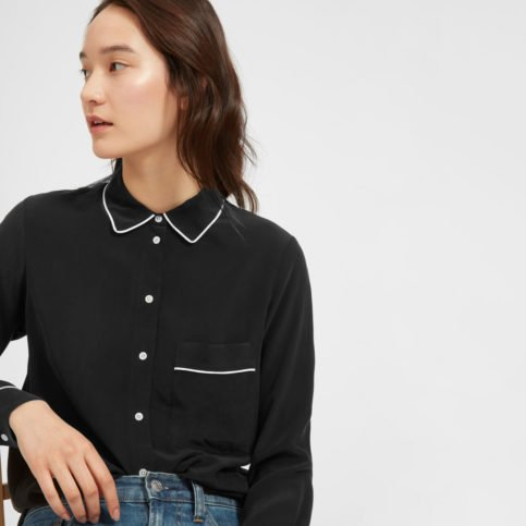 Piped Silk Shirt
