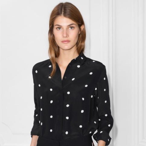 Silk Dotted Blouse