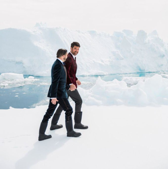 Glacier wedding elopement