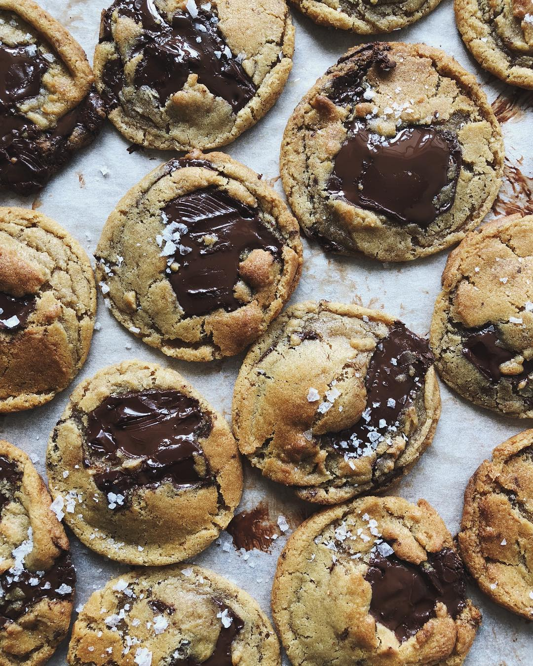 Chocolate Chip Cookies With Sea Salt by Thalia Ho