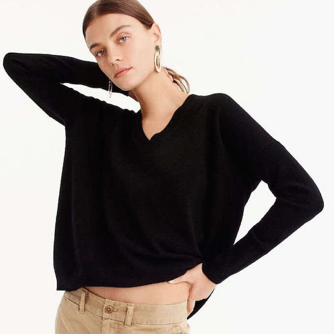 f9040cc88 Sweater  This cashmere sweater is oversized and soooo comfy. You feel like  you re wearing a sweatshirt yet it s work-appropriate.