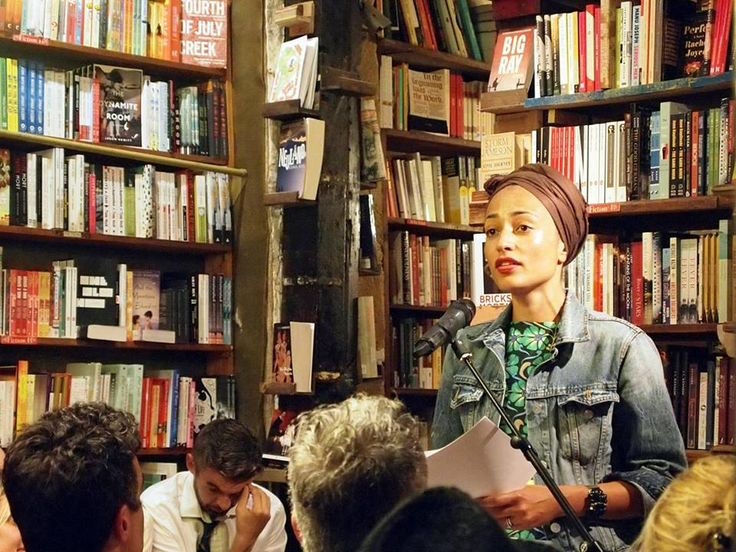 Zadie Smith at a reading